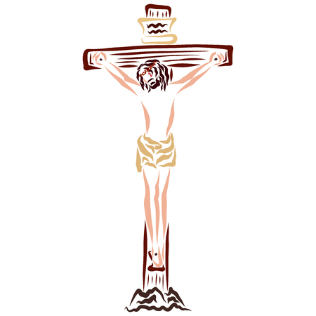 Jesus Christ dying on the cross, salvation
