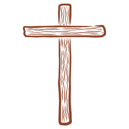 brown empty wooden Christian cross abstract pattern
