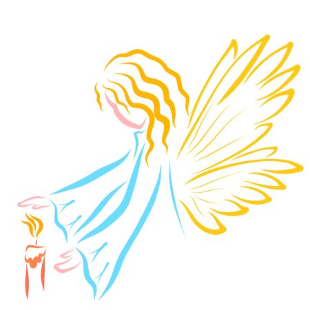 Winged Angel or Fairy and the Candle