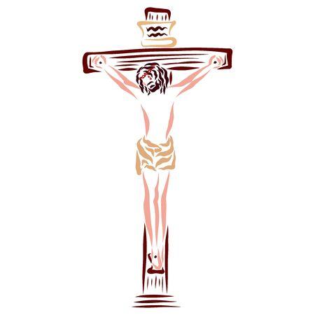 Savior Jesus dying on the cross, death for life Stockfoto