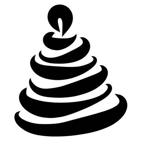 childrens pyramid of seven rings, black pattern Zdjęcie Seryjne