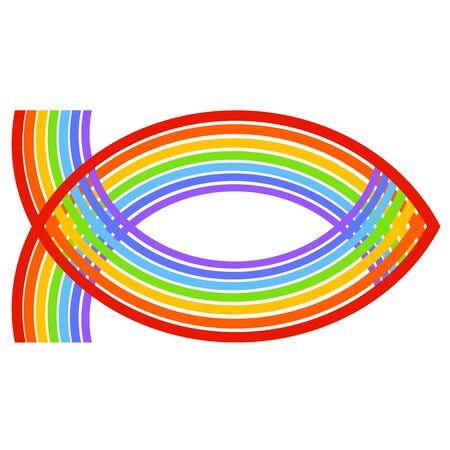 Symbol of Christianity, a fish from the rainbow