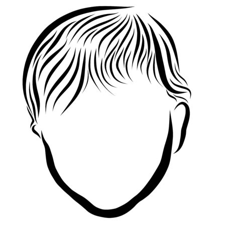 The head of a small child, black outline