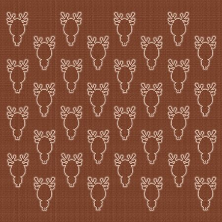 brown background with texture and silhouettes of deers Standard-Bild - 130162484