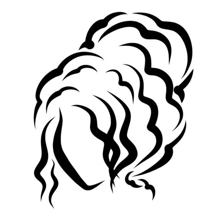 lady with a fluffy hairstyle, wavy hair