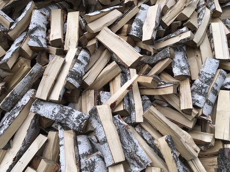 firewood for heating a bathhouse or a country house