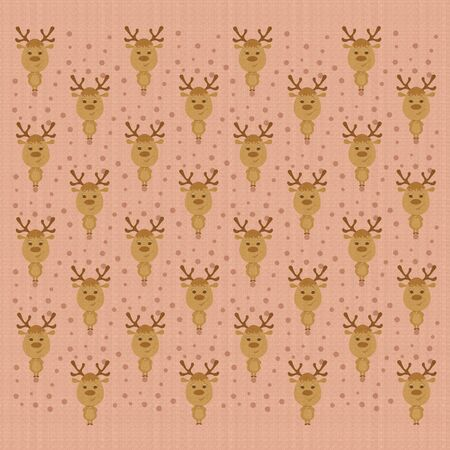 Cute background with funny holiday deers, festive decor Фото со стока