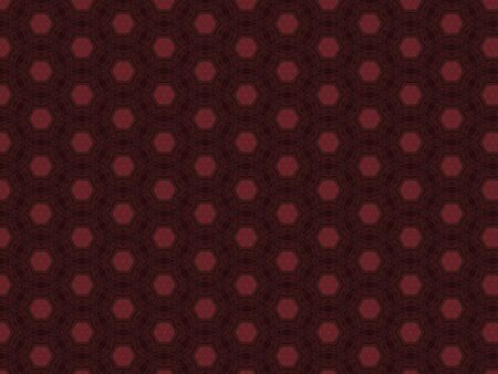 burgundy leather material with a red hexagon star and a diamond shape