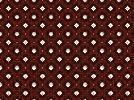 Krakodil leather burgundy and red with a geometric pattern and flowers