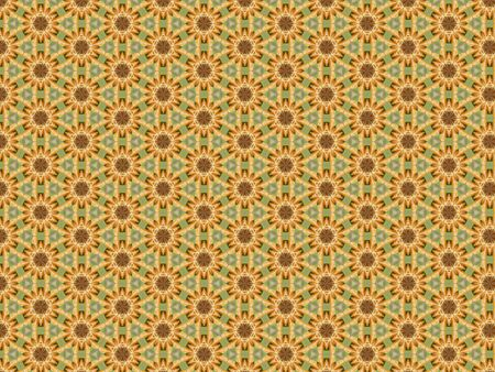 background with a pattern of mandarin slices orange and green Stock Photo