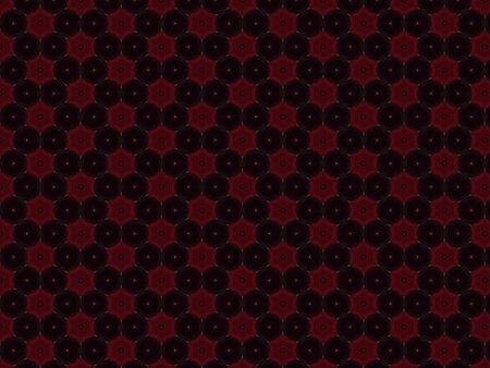 background created from leather and velvet fabric red rose