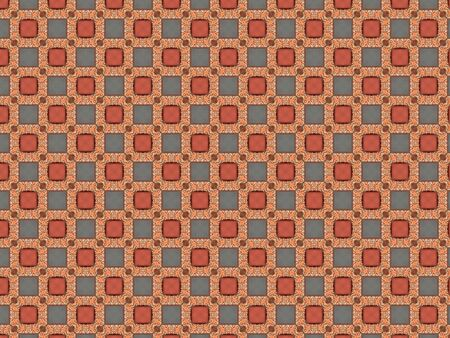 background repeating pattern roses plastic square blue brown ornament matte
