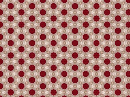bright red pattern fabric syntecic material pink thread bedspread