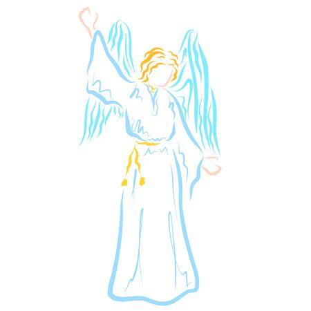 Un ange qui apporte des nouvelles de Dieu Banque d'images