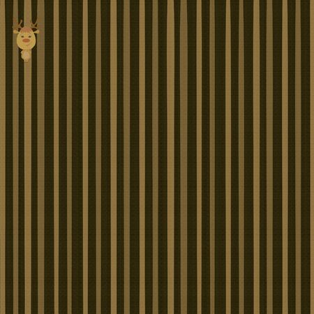 Brown Textured Striped Background with Merry Deer Stok Fotoğraf