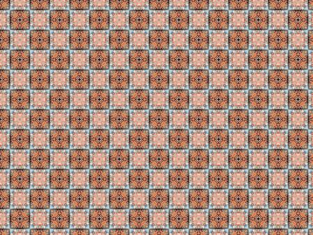 wall tile with flowers orange blue white square