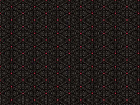 background black textile decor geometric red star-shaped pattern