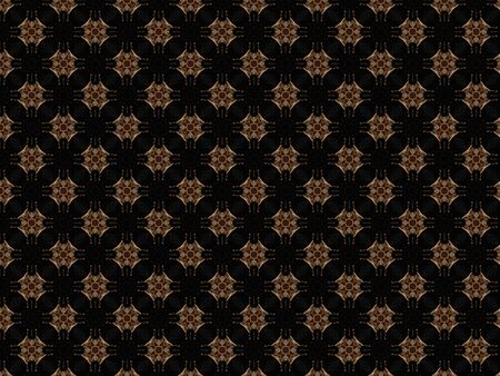 decoration geometric pattern fabric braid delicate heart shape and brown and black cross