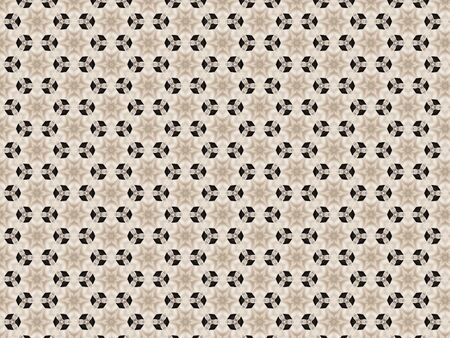 background white fabric star pattern repeats combined with rhombus black Stok Fotoğraf