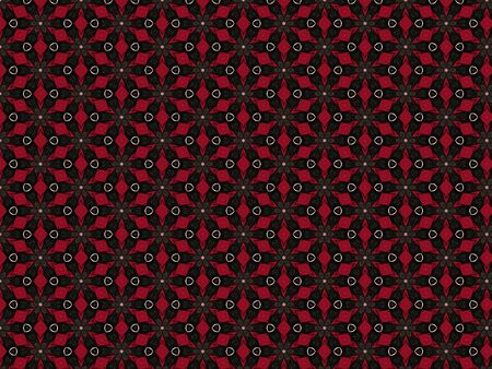 background abstract with volumetric rhombus red color geometric texture pattern fabric black