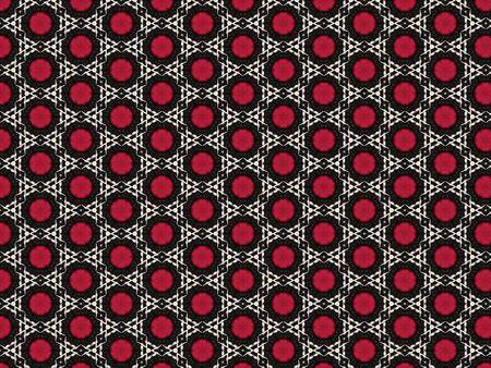 background fabric geometric style rhombus white red pattern and black interwoven fabric
