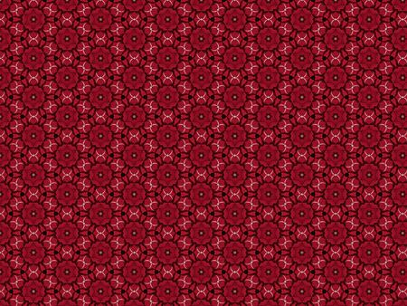 fabric background elegant openwork red star decorated with a braid in the form of numbers eight Stok Fotoğraf