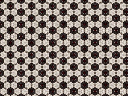 Background pattern texture wallpaper gray abstract white flower black hexagon red fabric star Zdjęcie Seryjne