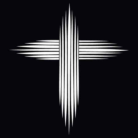 seven line christian cross resembling a shining star