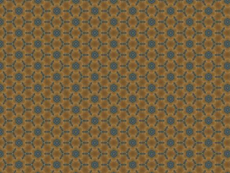 Background wallpaper texture flowers repeating blue on a brown wall