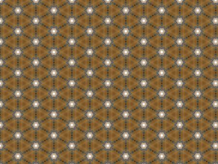 Background wallpaper brown geometric pattern triangle flowers repeating blue and white Zdjęcie Seryjne