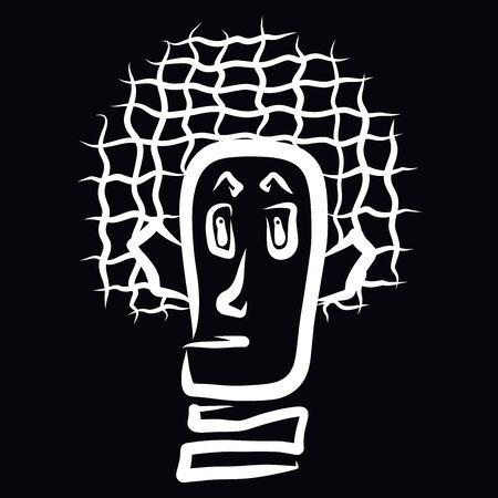 Funny man, tree like head, white pattern Zdjęcie Seryjne - 132097788