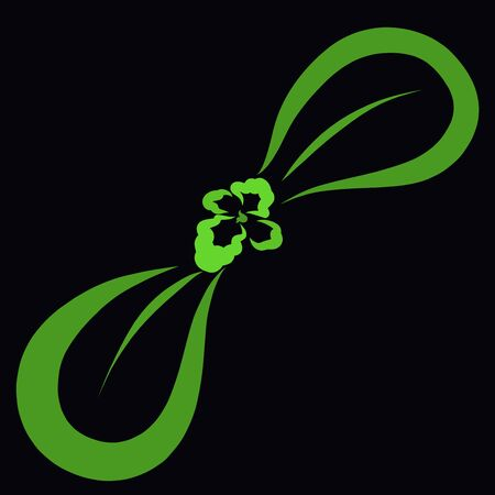 young green sprout on a black background