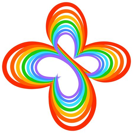 Rainbow butterfly from the symbols of infinity