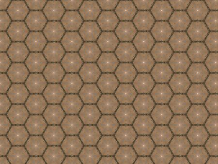 background brown honeycomb pattern green weaving contour snowflakes white star blue pattern
