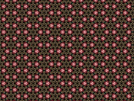 geometric background with threads of different colors red white green