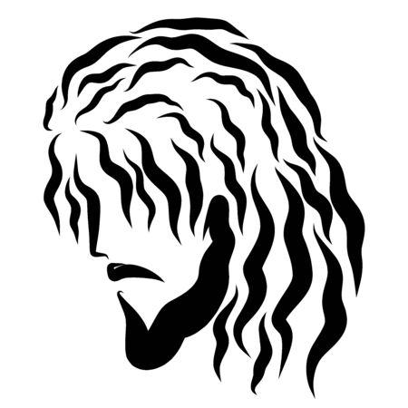 Head of a humble or praying Savior, profile