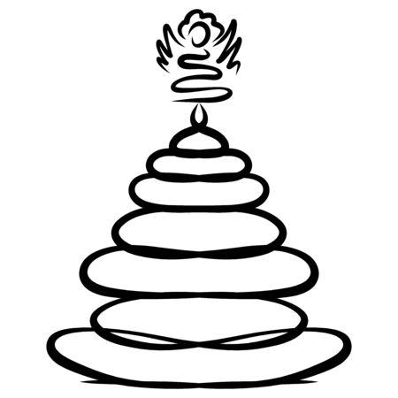 Winding xmas tree with angel on top Zdjęcie Seryjne