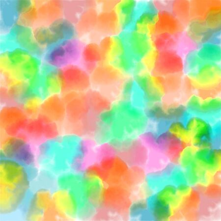 colorful abstract background with blurry spots, bright watercolor