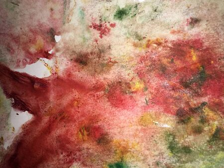 abstract pink background painted with watercolor paint in grunge technique on watercolor paper