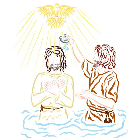 Holy Spirit in the form of a Dove during the baptism of Jesus