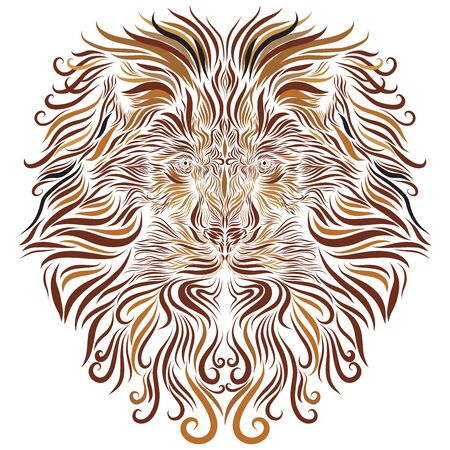 lion face with brown mane ornament ornate