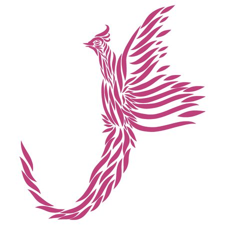 dove of peace abstract fairytale bird of paradise fuchsia with elegant plumage