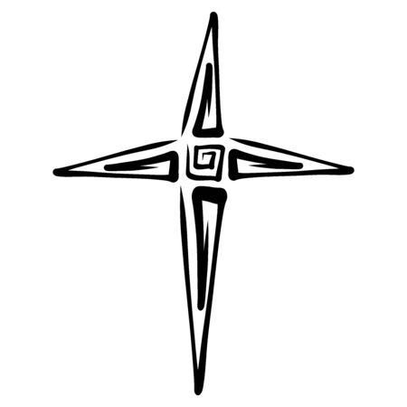 an abstract black cross resembling a star Zdjęcie Seryjne