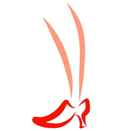 female leg in red high heel shoes Zdjęcie Seryjne