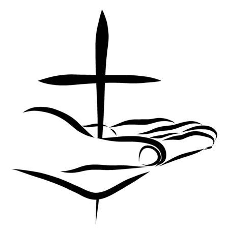 Savior's hand pierced by a cross, gift and sacrifice Zdjęcie Seryjne