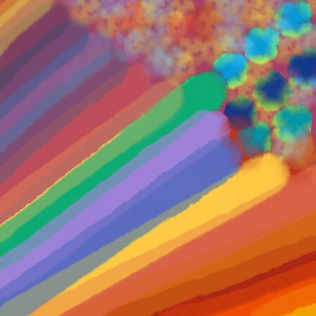 background with colorful lines and spots, rainbow of colors Zdjęcie Seryjne
