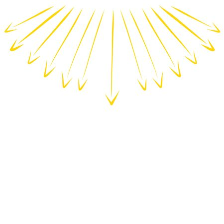 rays of the sun, like arrows pointing in different directions Zdjęcie Seryjne