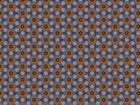 background pattern braided ornament petal flower orange and blue threads soft delicate geometric decor repeating vintage design Banque d'images