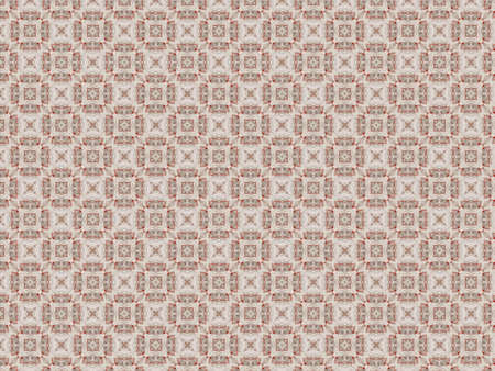 background pattern delicate lace guipure white flowers red thread Banque d'images