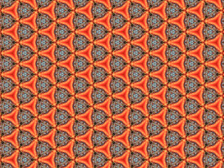 background pattern braided thread ornament soft fleece delicate geometric decor triangle orange repeating vintage design Banque d'images